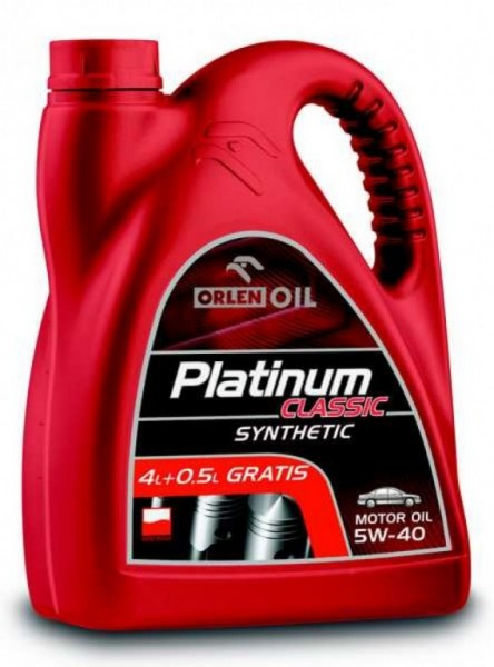 Olej Platinum Classic Synthetic 5W-40 4,5L